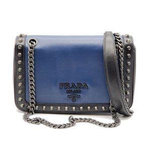 Authentic Prada Flap Chain Shoulder Bag